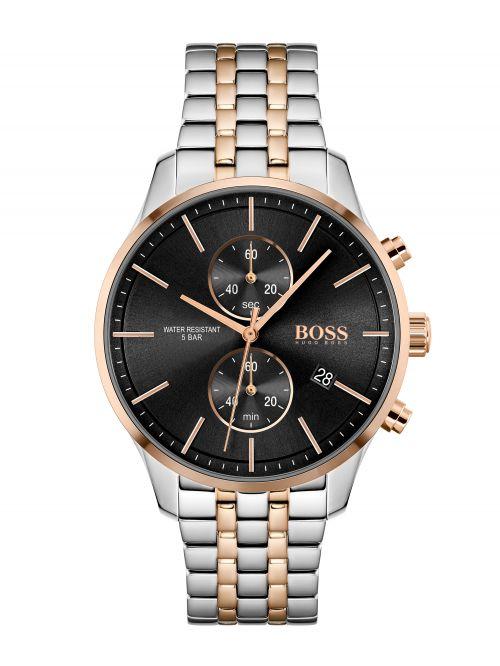 שעון יד HUGO BOSS לגבר עם רצועת מתכת דגם 1513840