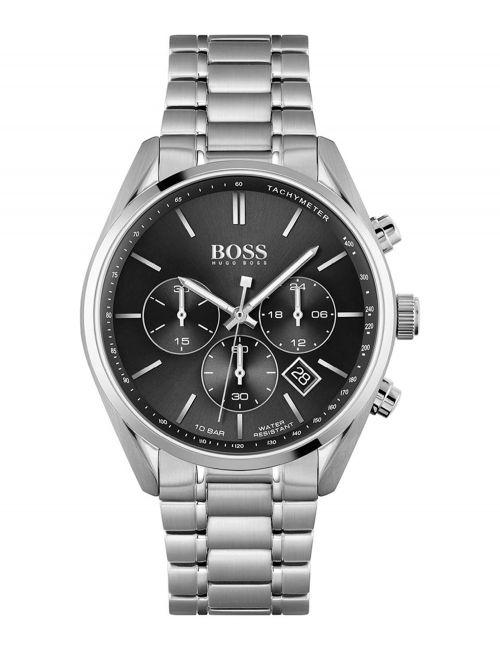 שעון יד HUGO BOSS לגבר בצבע כסף קולקציית CHAMPION דגם 1513871