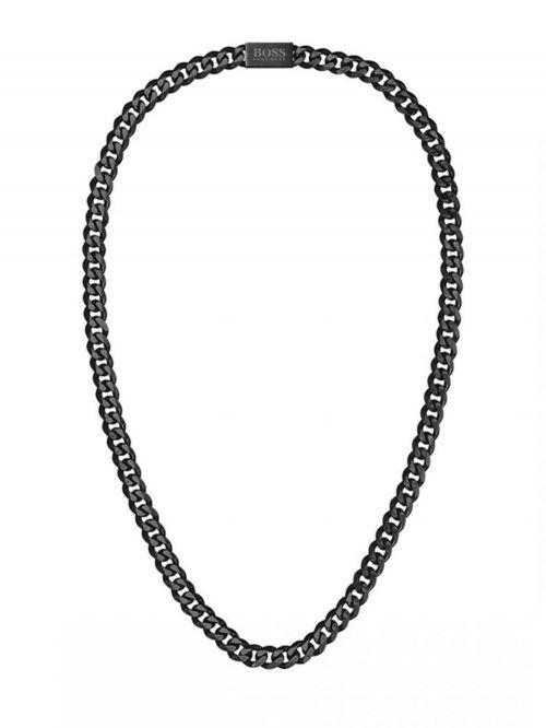 שרשרת  BOSS לגבר פלדת אל חד קולקציית CHAIN LINK  בצבע שחור דגם 1580143