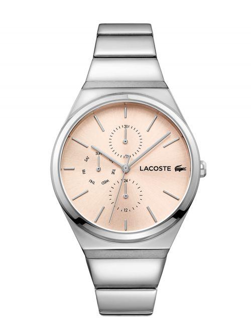 שעון יד LACOSTE לאישה עם רצועת מתכת דגם 2001038