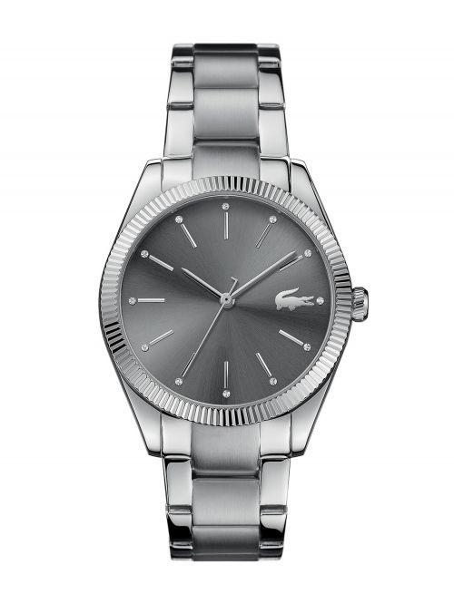 שעון יד LACOSTE לאישה עם רצועת מתכת דגם 2001081