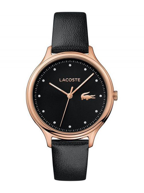 שעון יד LACOSTE לאישה עם רצועת עור דגם 2001086