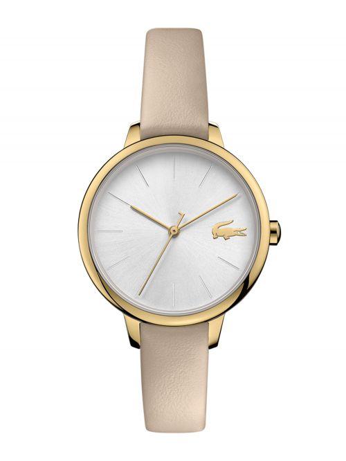 שעון יד LACOSTE לאישה עם רצועת עור קולקציית CANNES דגם 2001126