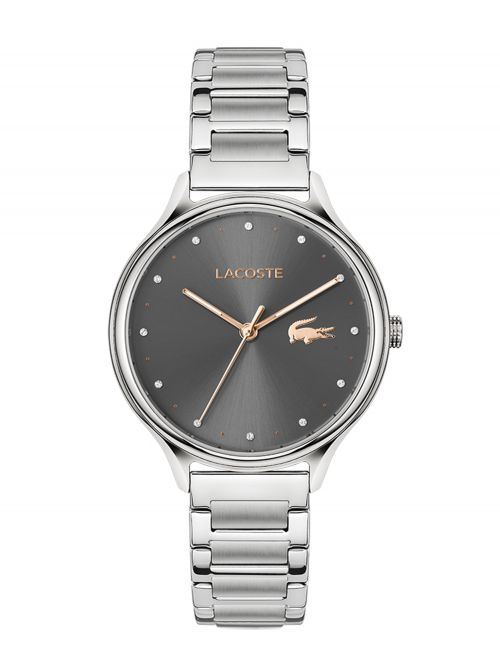 שעון יד LACOSTE לאישה עם רצועת עור קולקציית PARISIENNE דגם 2001162