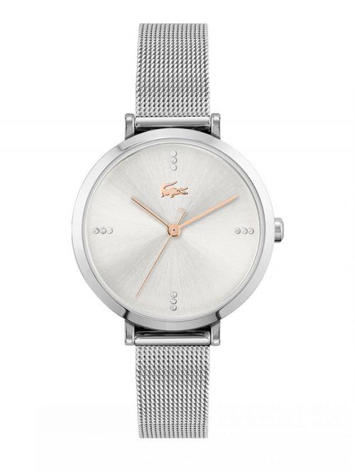 שעון יד LACOSTE לאישה  קולקציית GENEVA עם רצועת מתכת בצבע כסף דגם 2001164
