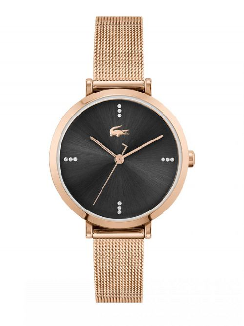 שעון יד LACOSTE לאישה  קולקציית GENEVA עם רצועת מתכת בצבע זהב אדום דגם 2001165