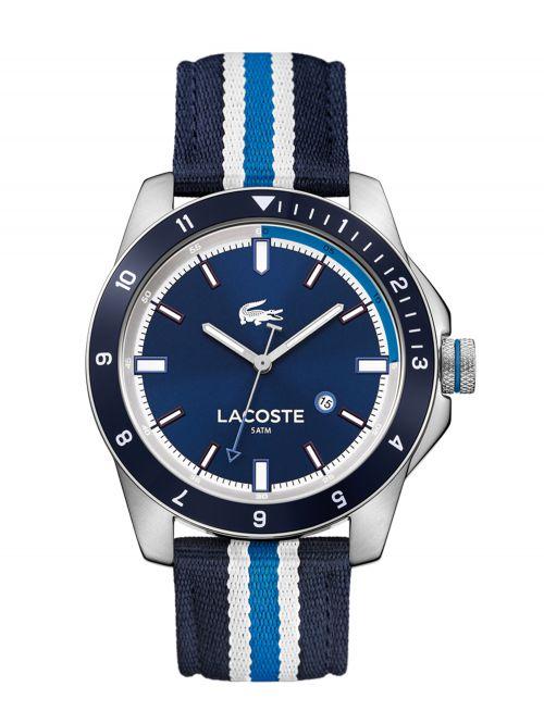 שעון יד LACOSTE לגבר עם רצועת בד דגם 2010809