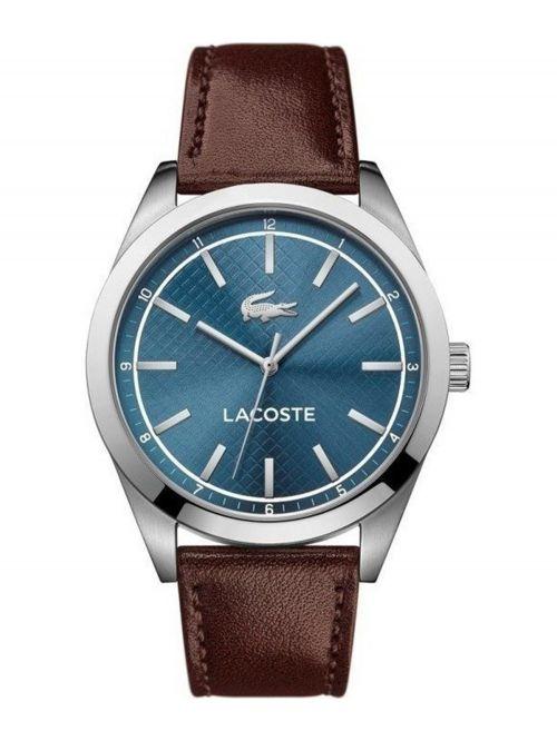 שעון יד LACOSTE לגבר עם רצועת עור קולקציית EDMONTON דגם 2010889