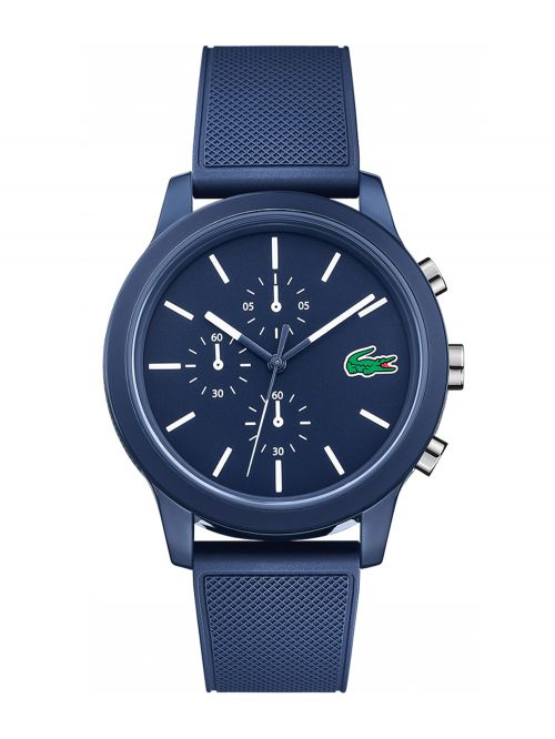 שעון יד LACOSTE לגבר עם רצועת סיליקון קולציית L.12.12 דגם 2010970