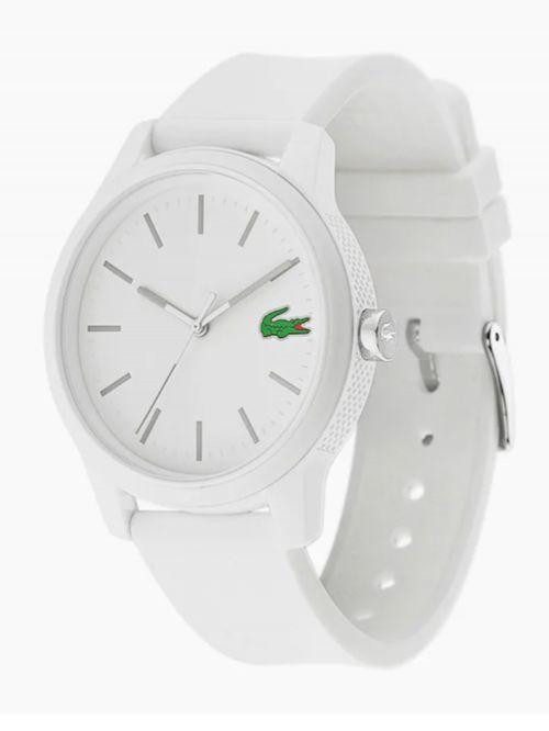 שעון יד LACOSTE עם רצועת סיליקון בצבע לבן דגם 2010984