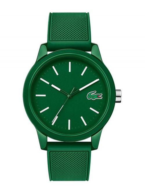 שעון יד LACOSTE עם רצועת סיליקון בצבע ירוק דגם 2010985
