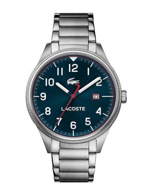 שעון יד LACOSTE לגבר עם רצועת מתכת דגם 2011022