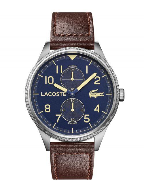 שעון LACOSTE לגבר עם רצועת עור קולקציית CONTINENTAL דגם LAC-2011040