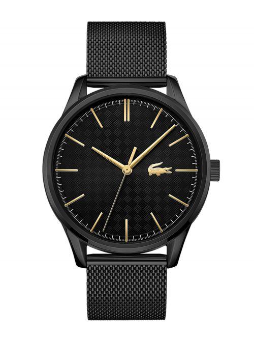 שעון יד לגבר מבית LACOSTE עם רצועת מש שחורה דגם 2011105