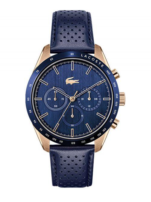 שעון יד LACOSTE לגבר קולקציית BOSTON רצועת עור בצבע כחול דגם 2011111