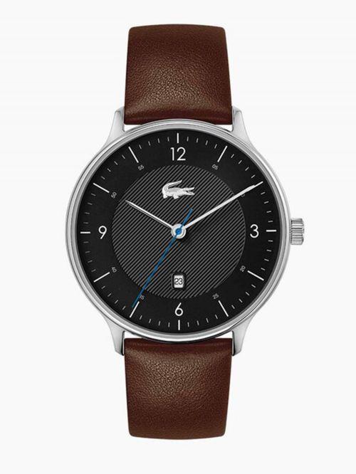 שעון יד LACOSTE לגבר קולקציית LACOSTE CLUB עם רצועת עור בצבע חום דגם 2011116