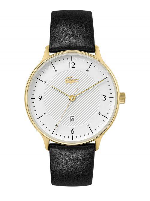 שעון יד LACOSTE לגבר קולקציית LACOSTE CLUB עם רצועת עור בצבע שחור דגם 2011117