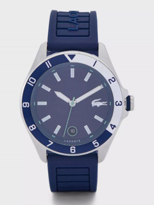 שעון יד LACOSTE לגבר עם רצועת סיליקון בצבע כחול דגם 2011125