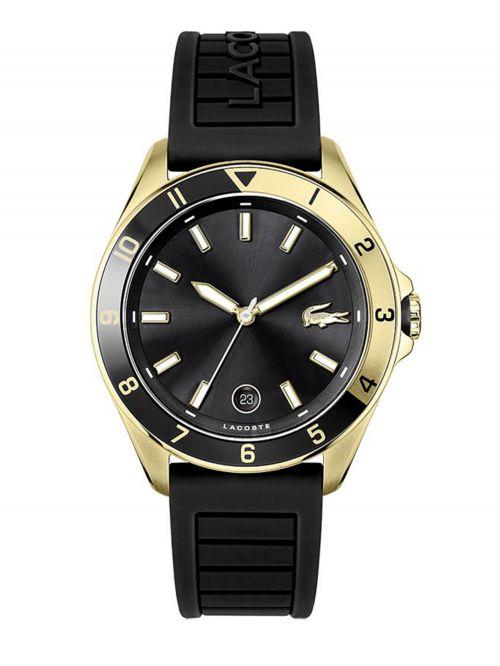 שעון יד LACOSTE לגבר עם רצועת סיליקון בצבע שחור דגם 2011126