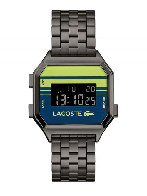 שעון יד דיגיטלי LACOSTE  עם רצועת מתכת קולקציית BERLIN דגם 2020134
