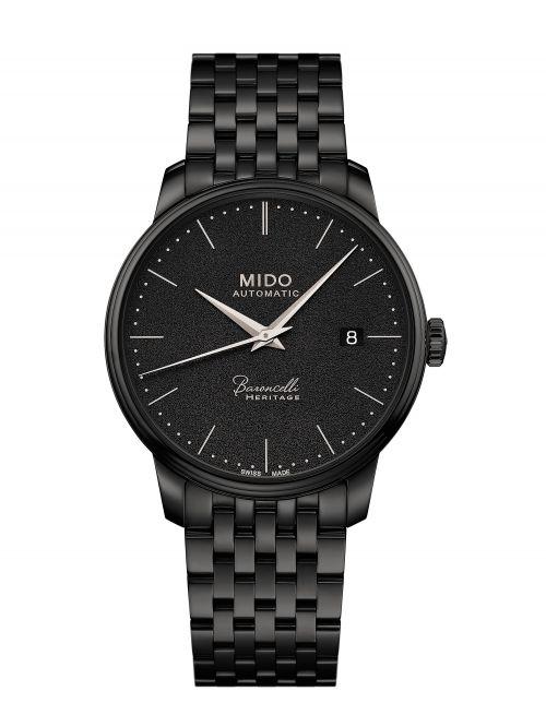 שעון MIDO קולקציית BARONCELLI לגבר בצבע שחור דגם M0274073305000