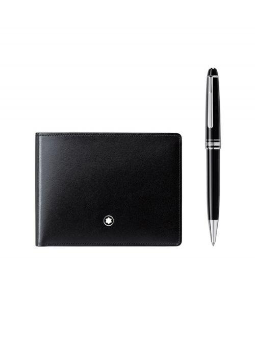 סט עט כדורי + ארנק MONTBLANC MEISTERSTUCK