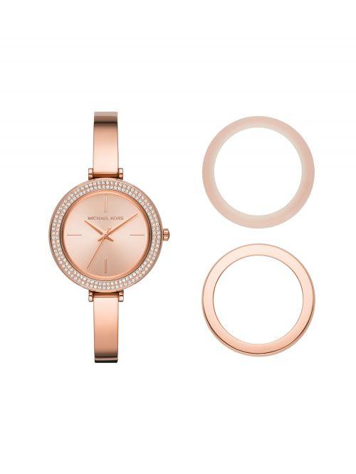 שעון יד MICHAEL KORS לאישה עם רצועת מתכת בצבע רוז-גולד דגם MK4435