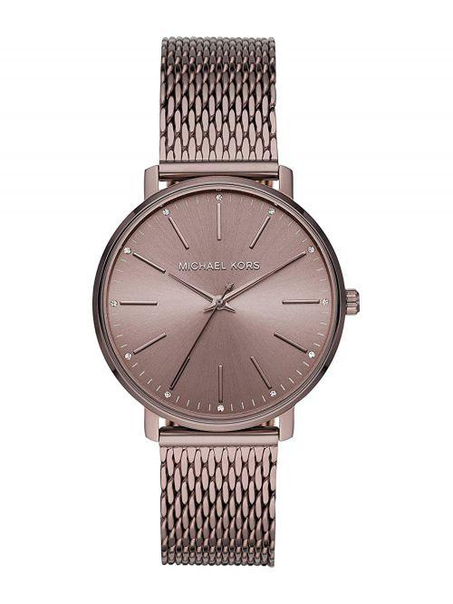 שעון יד MICHAEL KORS לאישה עם רצועת מתכת בצבע חום דגם MK4538