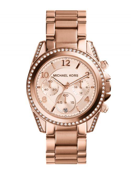שעון יד MICHAEL KORS לאישה עם רצועת מתכת רוז גולד דגם MK5263