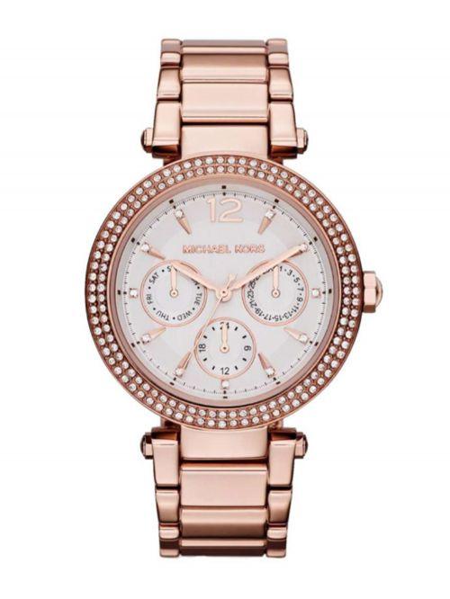 שעון יד MICHAEL KORS לאישה עם רצועת מתכת בצבע רוז-גולד דגם MK5781