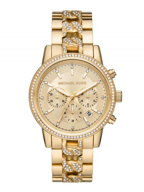 שעון MICHAEL KORS לאישה בצבע זהב קולקציית RITZ דגם MK6937