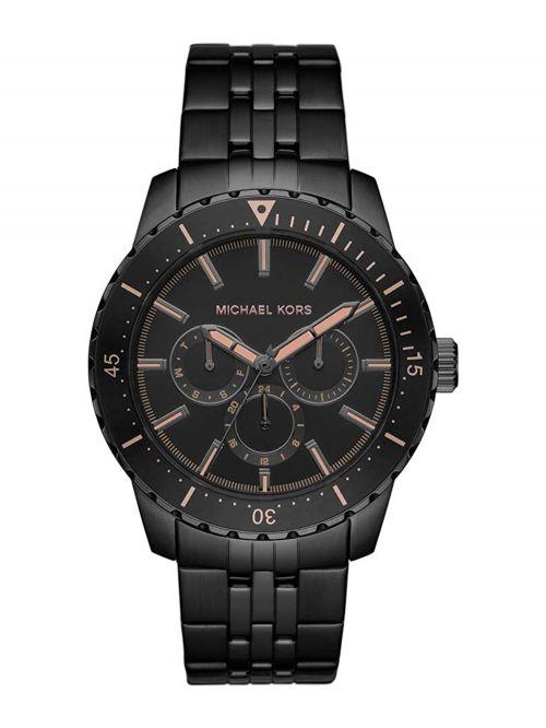 שעון יד MICHAEL KORS לגבר עם רצועת מתכת שחורה דגם MK7157