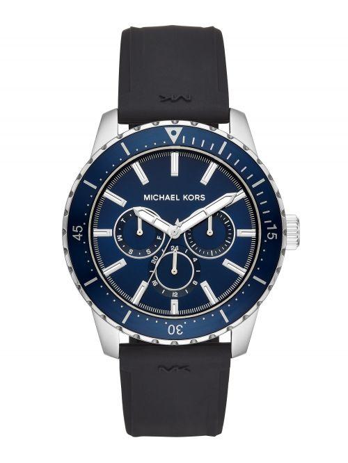 שעון יד גברים MICHAEL KORS רצועת סיליקון שחורה דגם MK7160
