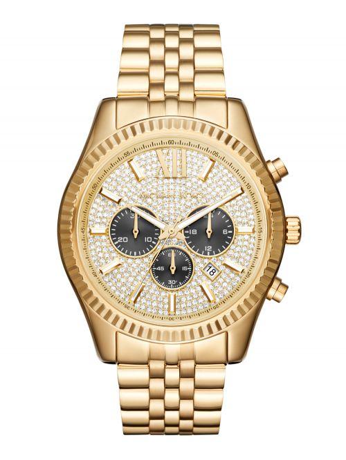 שעון יד MICHAEL KORS לגבר קולקציית LEXINGTON עם רצועת מתכת דגם MK8494