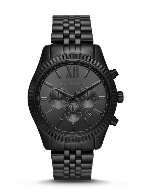 שעון יד גברים MICHAEL KORS מתכת שחורה דגם MK8591