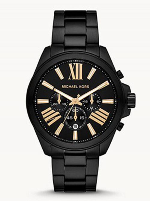 שעון יד MICHAEL KORS לגבר עם רצועת מתכת שחורה דגם MK8767