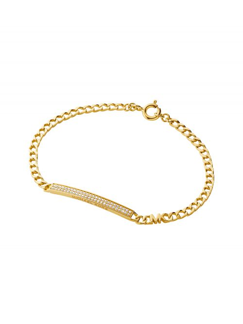צמיד לאישה MICHAEL KORS עם ציפוי זהב 14 קארט קולקציית PREMIUM דגם MKC1379AN710