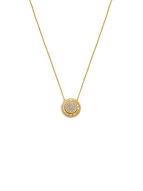שרשרת לאישה MICHAEL KORS עם ציפוי זהב 14 קארט קולקציית PREMIUM דגם MKC1389AN710