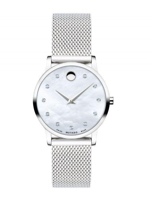 שעון יד MOVADO לאישה קולקציית MUSEUM משובץ יהלומים דגם 0607491