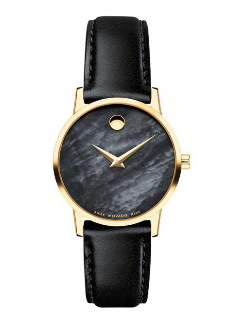 שעון לנשים MOVADO קולקציית Museum Classic רצועת עור דגם 0607564