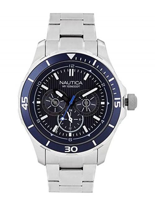 שעון יד NAUTICA לגבר עם רצועת מתכת דגם NAI16528G
