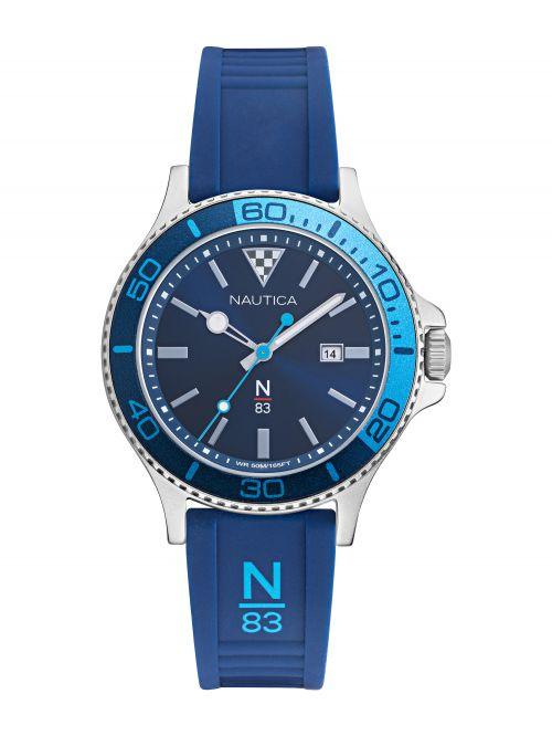 שעון יד NAUTICA לגבר רצועה כחולה דגם NAPABS020