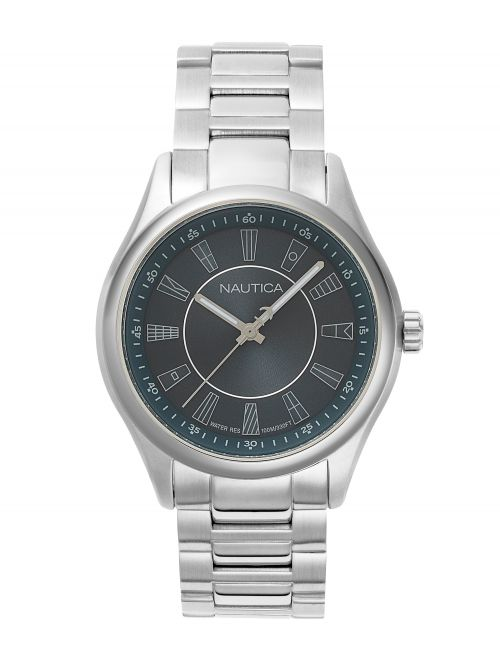 שעון יד NAUTICA לגבר עם רצועת מתכת דגם NAPBST004