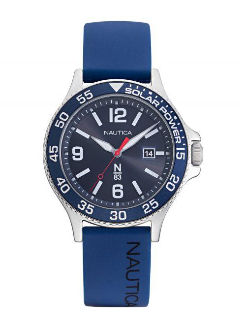 שעון יד NAUTICA לגבר רצועת סיליקון כחולה דגם NAPCBS022