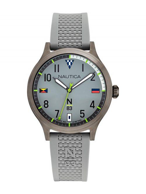 שעון יד NAUTICA לגבר עם רצועת סיליקון דגם NAPCFS914