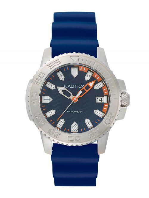 שעון יד NAUTICA לגבר עם רצועת סיליקון דגם NAPKYW001