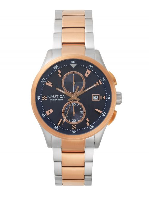 שעון יד NAUTICA לגבר עם רצועת מתכת דגם NAPLSN003