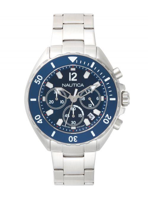 שעון יד NAUTICA לגבר עם רצועת מתכת דגם NAPNWP009