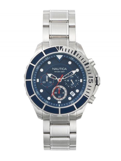 שעון יד NAUTICA לגבר עם רצועת מתכת דגם NAPPTR004