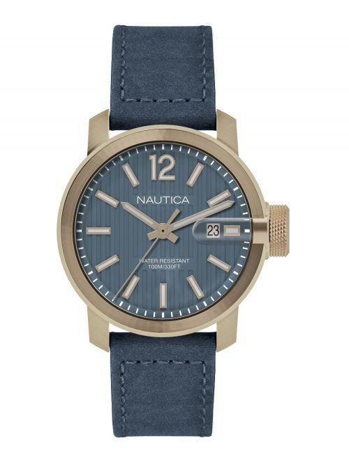 שעון יד NAUTICA לגבר עם רצועת עור דגם NAPSYD004